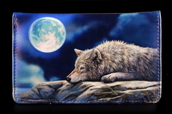 Geldbörse mit Wolf - Quiet Reflection