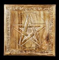 Tisch Altar - Pentagramm mit Verzierungen