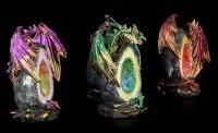 Drachen Figuren LED - Geode Keepers - 4er Set