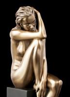 Female Nude Figurine - Sitting on Monolith