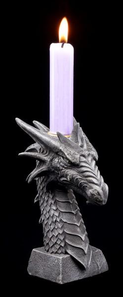 Kerzenhalter - Drachen Kopf
