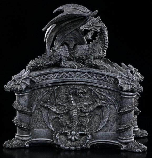 Drachen Schatulle mit Drachenköpfen