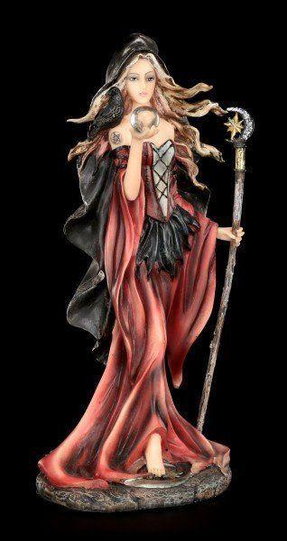 Rote Hexen Figur - Rubia mit Kristallkugel