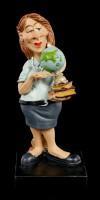 Funny Job Figur - Lehrerin mit Globus