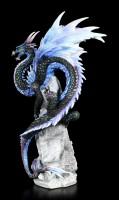 Drachen Figur auf Fels - Saphire Sentinel