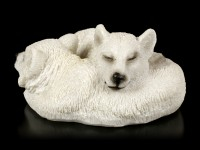 Young Polar Wolf Figurine