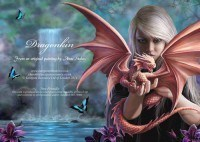 Fantasy Grußkarte Drache - Dragonkin