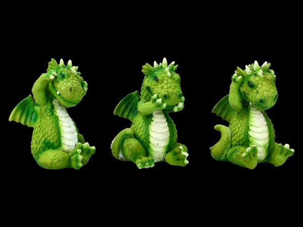 Cute Dragon Figurines - No Evil
