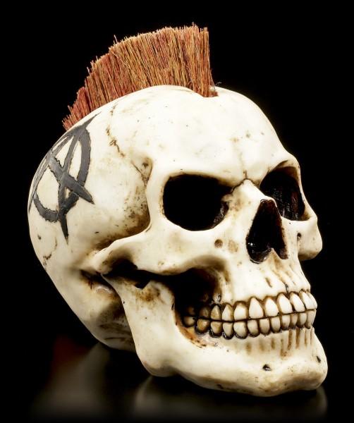 Totenkopf mit Irokesenschnitt - Anarchist