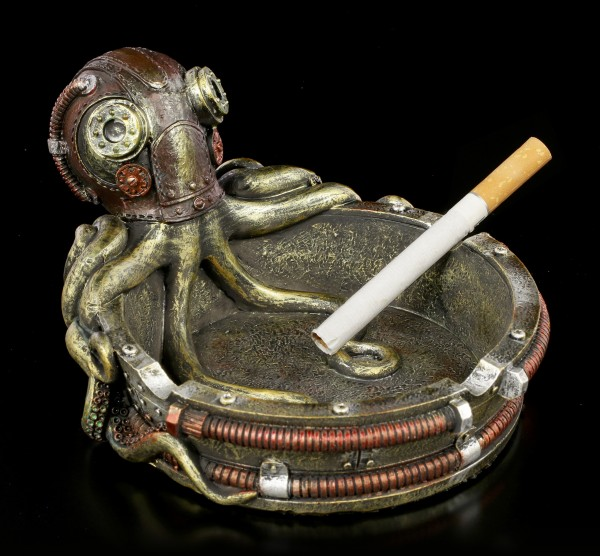 Steampunk Ashtray - Octopus