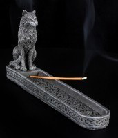 Räucherhalter - Schwarzer Wolf