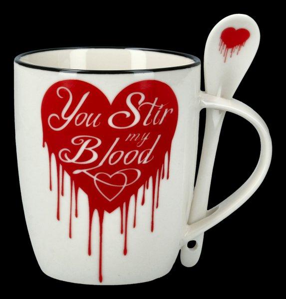 Tasse mit Löffel - You Stir My Blood