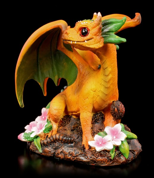 Peach Dragon Figurine by Stanley Morrison
