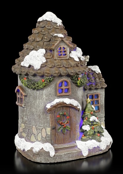 Fairy House with LED - Xmas Cottage