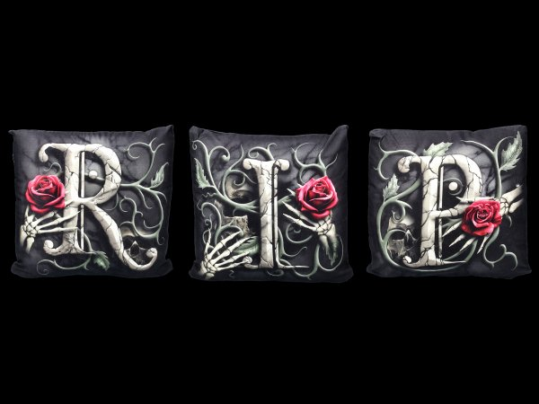 Spiral Gothic Kissen 3er Set - R.I.P.