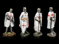 White Crusader Figurines - Set of 4
