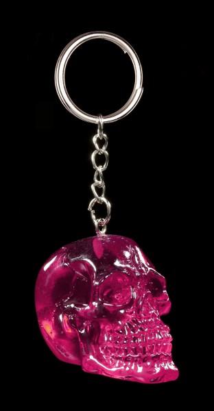Totenkopf Schlüsselanhänger - Pink Brain