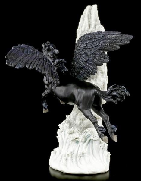 Black Pegasus Figurine Flying