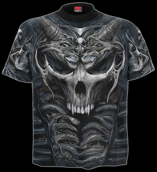 Skull Armour - Spiral Gothic T-Shirt