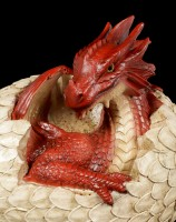 Fire Dragon Figurine hatches from Egg