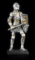 Small Knight Figure with Axe and Shield