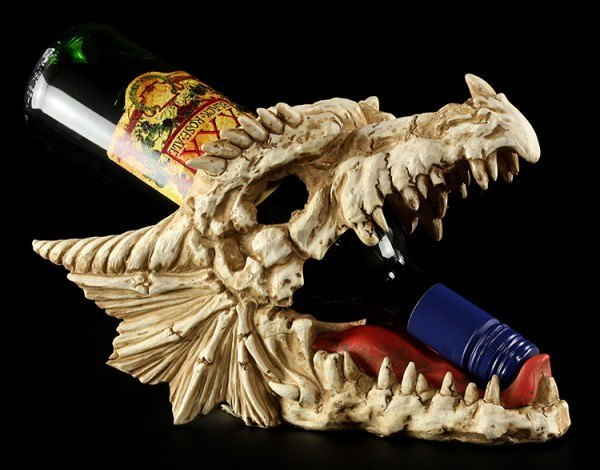 Bottle Holder - Dragon Skull