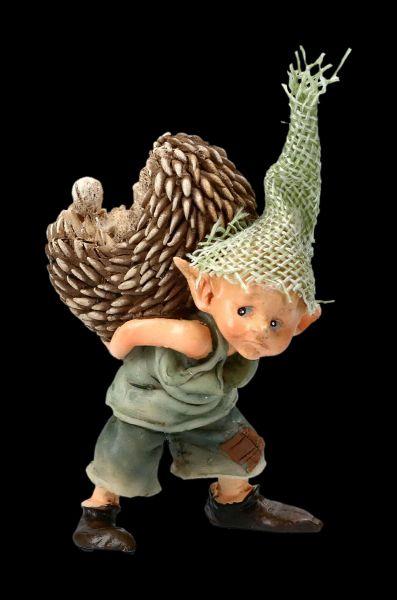 Pixie Goblin Figurine with Hedgehog - You poke...