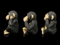 Affen Figuren 3er Set - Nichts Böses