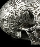 Celtic Skull - Silver-Colored