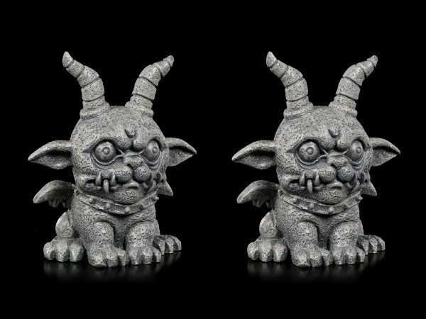 Gargoyle Figurines - Crazy Demon Set of 2