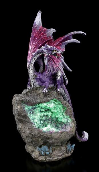Drachen Figur LED - Amethyst Custodian