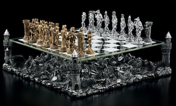 Chess Set With Pewter Knights