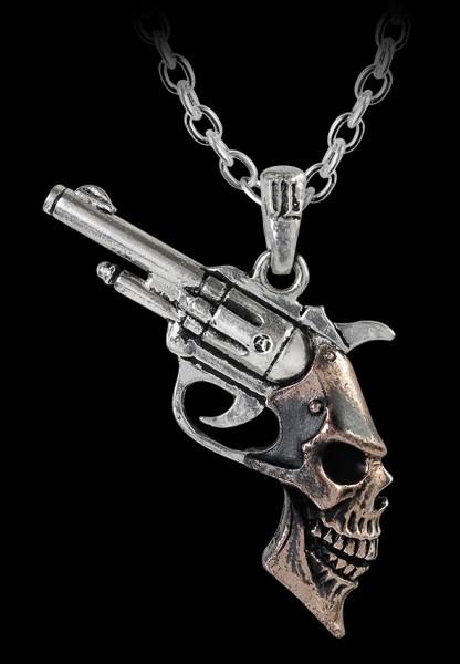 Alchemy Halskette - Triggerhead - Totenkopf Pistole