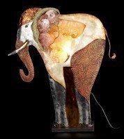 Metal Figurine - Elephant Lamp