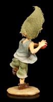 Pixie Goblin Figurine throws Apple