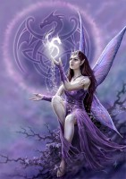 Fantasy Greeting Card with Fairy - Draco Faerie
