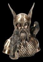 Odin Büste mit zwei Raben