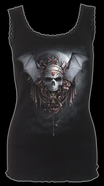 Spiral Gothic Damen Top - Totenkopf Goth Nights