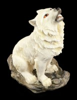 Howling Wolf Figurine - The Call in the Storm