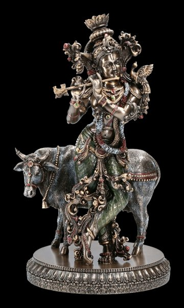 Krishna Figurine - Cowherd with Flute