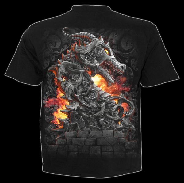 Spiral Drachen T-Shirt - Keeper of the Fortress