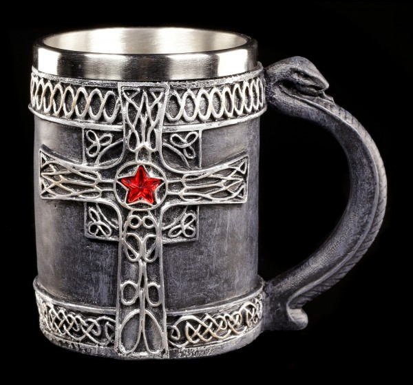 Medieval Tankard with Cross