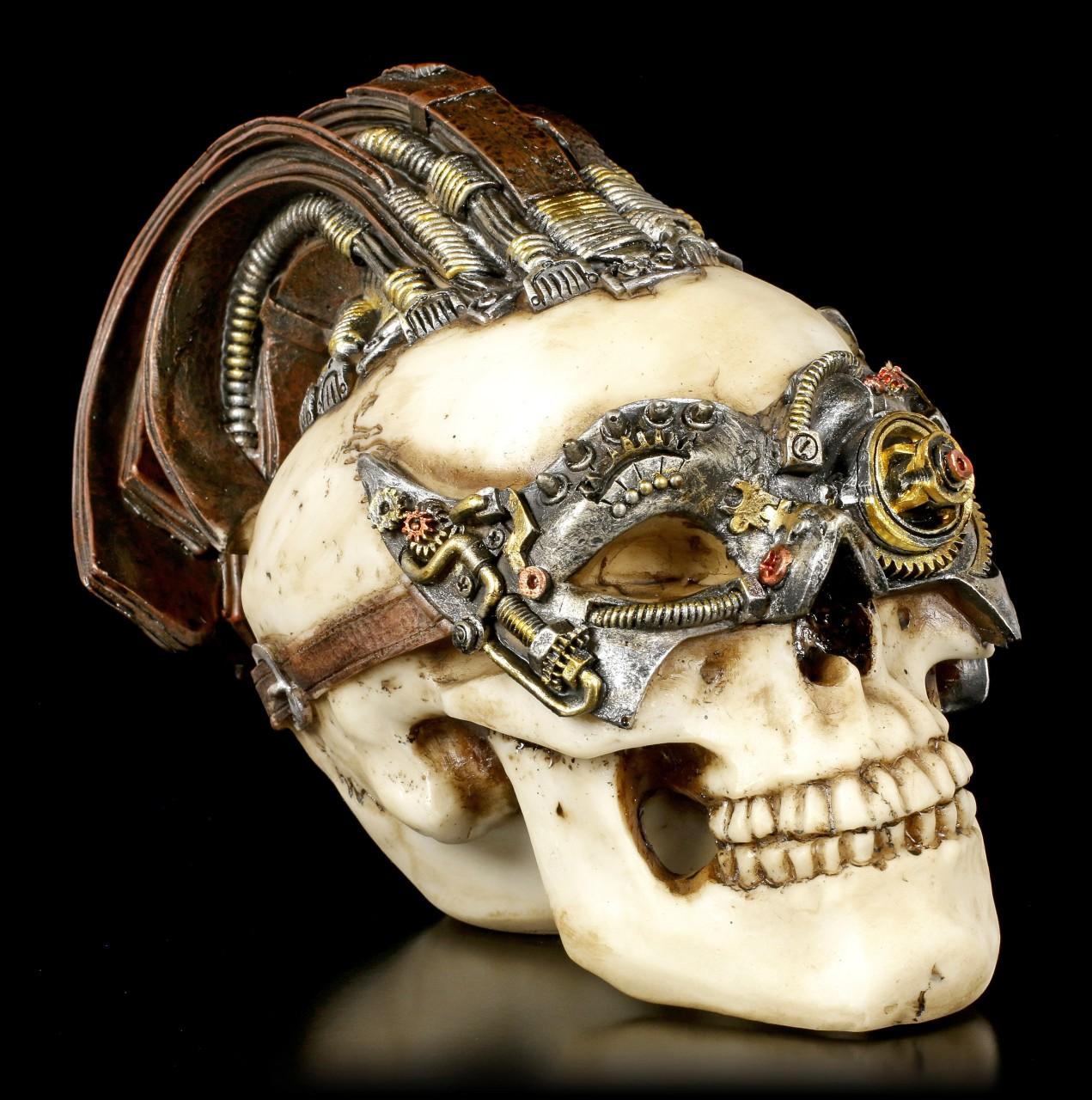 Steampunk Skull - Dreadlock Device small