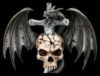 Wandrelief Drache am Schwert - Draco Skull