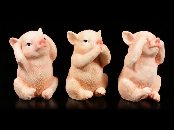 Pig Figurines - No Evil