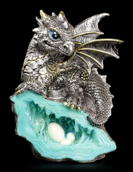 Drachen Figur - Blauer Wächter