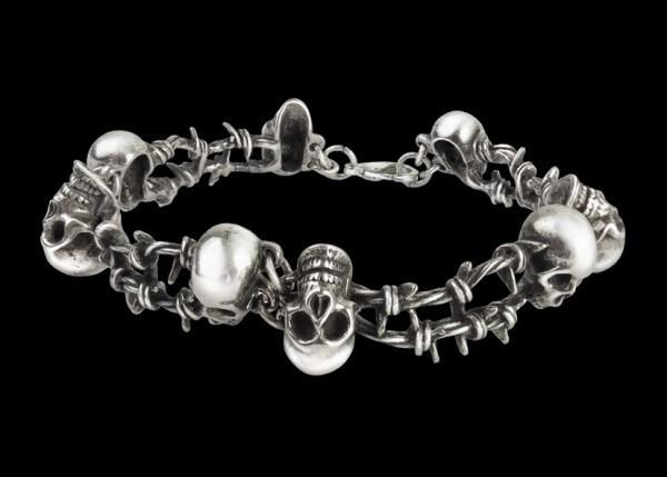 No Mans Land - Alchemy Skull Bracelet