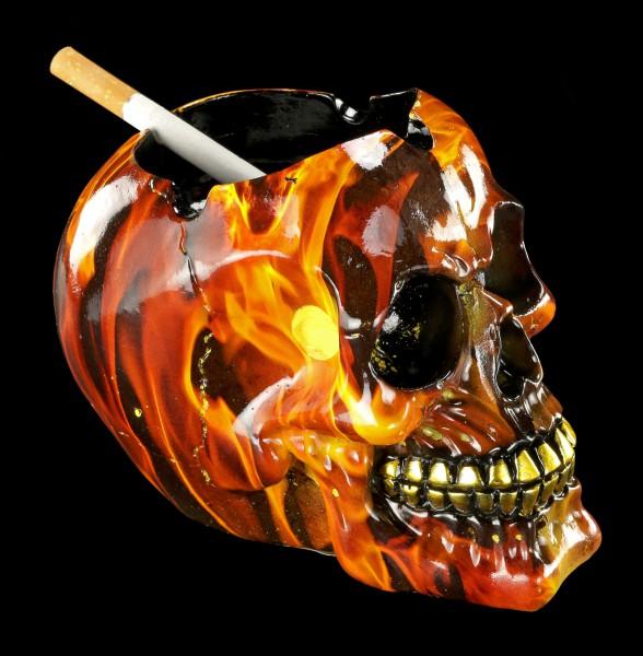 Totenkopf Aschenbecher - Hellfire