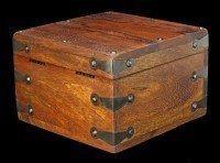 Mittelalterliche Holz Truhe - Rechteckig