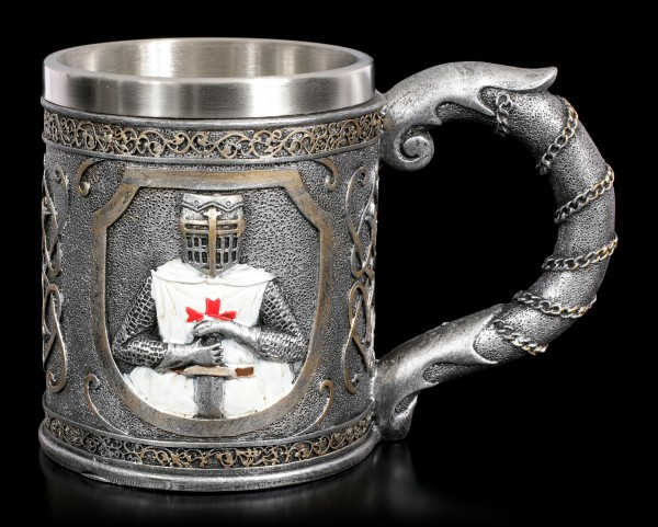 Knights Tankard - Crusader holds Sword